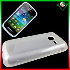 Custodia soft PERFECT FIT bianco per Samsung S5380 Wave Y aderente 5380 flessibi