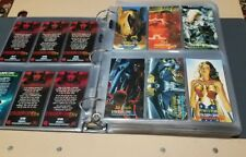 490 CARDS! Binder FULL of DC Comics & SPAWN trading cards in sleeves (no Marvel)