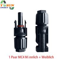 MC4 Stecker Paar Buchse+Stecker 4mm² bis 6mm² Kabel Solarmodul Solaranlage IP67