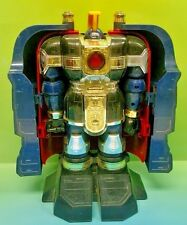 Power Rangers 1996 Zeo Deluxe Auric The Conqueror Zord Bandai Rare Blue Mighty
