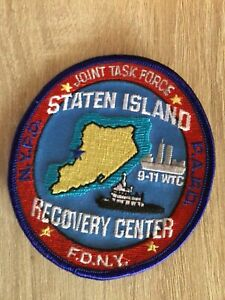 NYPD PAPD FDNY  Starten Island Recovery Center WTC Police  Patch