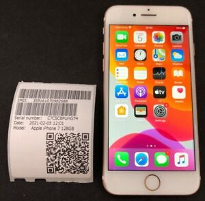 Apple iPhone 7 128Gb Rose Gold * Faulty * NO IMEI & ALTRO... * iCloud Sbloccato