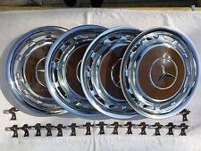 "4x calota tapacubos 14"" Gold Braun 476 Wheel hub cover mercedes r107 w116 w123"