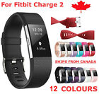For Fitbit Charge 2 Band Replacement Silicone Strap Black Soft Bands Small Large