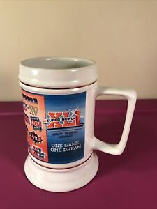 NFL Super Bowl XLI 41 Bears Colts Limited Edition Beer Stein 2007 Peyton Manning