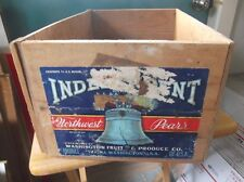 Tea Imports Chest Crate Loyal Vintage Antiqued Wooden Box