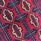 New Handmade Tribal & Geometric Afghan Bahor Red Accent Rug,100% Camel Hair, 4x7
