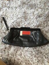 Vintage Alfani Cuero Negro Embrague Bag. 15JUL-16AUG. vendedor AWAY