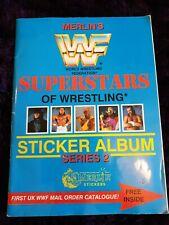 VINTAGE MERLIN'S WWF SUPERSTARS OF WRESTLING STICKER ALBUM SERIES 2 hulk Hogan