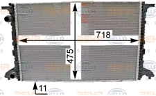 Coolant Radiator Audi:A4 8W0121251J 8W0121251J 8W0121251J 8W0121251J