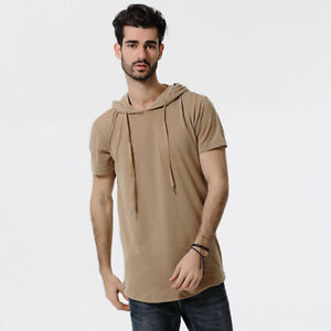 Men's Spring Summer Simple and Comfortable Short-Sleeved Hoodie Thin Fashion