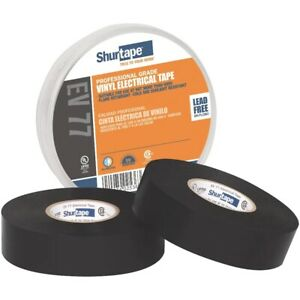 "Shurtape - Professional Grade, UL Listed, Black Electrical Tape (3/4"" x 66')"