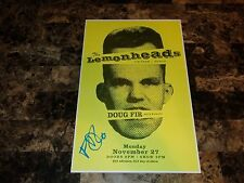 Evan Dando Rare Signed The Lemonheads Concert Gig Show Poster Candid Photo COA