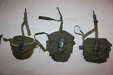 US Military Vietnam Era M16 AR15 20 RD Rifle Ammunition Magazine Pouch Lot of 3