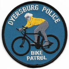 Bicycle patrol tennessee Dyersburg Bike police patch insigne de police usa