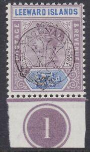 LEEWARD IS 1897 JUBILEE 2½D WITH PLATE NUMBER, FINE MINT