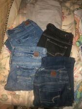 AE American Eagle Size 8 Jeans, Lot Of 5 Pair, All Vintage Style, Various Cuts
