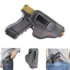 Universal Genuine Leather IWB Holster For S&W M&P Shield GLOCK Springfield XD