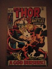 THOR 166 4.0 condition  2nd Warlock 1969 Kirby Marvel