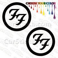 "2 of 5"" to 20"" Foo Fighters Logo /A rock artist car vinyl stickers decal die cut"
