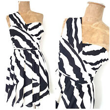 New Express Prom Dress Size Small One Shoulder Stripe Mini Formal Cocktail Party