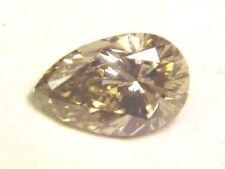FANCY COLORED ARGYLE CHAMPAGNE PEAR CUT VVS CLEAN DIAMOND NO ENHANCEMENTS .51CT