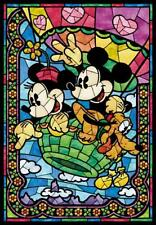 Tenyo Disney Stained Art Jigsaw Puzzle 500 Pieces Mickey Balloon DSG500-395