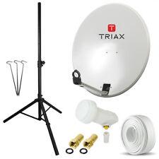 Triax td64 planta satélite Schüssel espejo LNB tres pierna trípode cable camping opticum