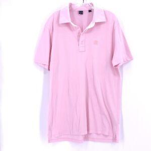 G/FORE Mens Golf Polo Shirt Short Sleeve Sz L Pink 100% Cotton