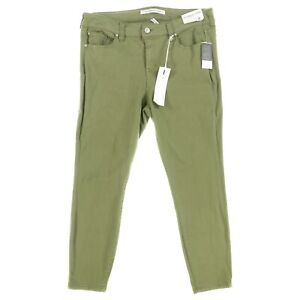 Celebrity Pink Women's 14 Green Mid Rise Stretchy Skinny Ankle Jeans $49.00