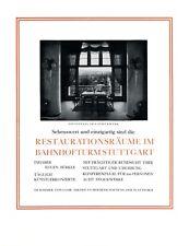 Restaurant Bahnhofsturm Stuttgart XL Reklame 1925 Bahnhof Werbung 21  +