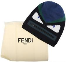 NEW FENDI ROMA MONSTER COLLECTION BAG BUGS LANA WOOL BEANIE HAT UNISEX