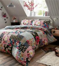 Duvet set floral bedding printed patchwork quilt cover & pillow cases flowers