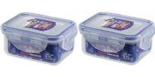 2 X LOCK AND & LOCK PLASTIC FOOD STORAGE CONTAINER 180ML HPL805