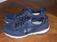 Men's Sketchers Lite-weight - Navy Blue Memory Foam Trainer Shoes size 12 UK VGC