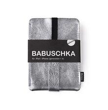 Babuschka Handytasche Iphone 1-4 Leder silber Handyhülle Lederhülle Handy dekoop