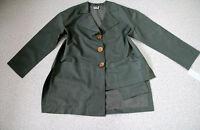 Ya No LAGENLOOK In-Outdoor Jacke 44 46 48 Taschen Längen olivgrün NEU