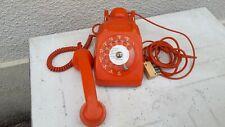 Téléphone vintage année 79 orange