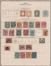 ITALY: 1862-1879 Examples - Ex-Old Time Collection - Album Page (35734)