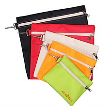 5 Pack Tool Bags Multi-Purpose Zipper Canvas Tools Organization Bag Pouch Craft