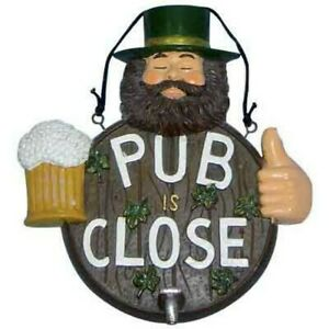 Insegna pub bar cm.31 chiuso arredo locale cartello targa per pub is close