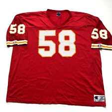 Vintage Kansas City Chiefs Derrick Thomas Champion Jersey Size 60 Red NFL
