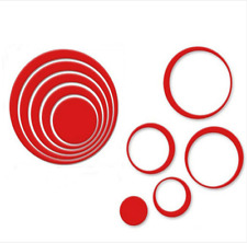 5X Modern Home Decor 3D Circles Ring Wall Stickers DIY Indoor Room Wall Hot