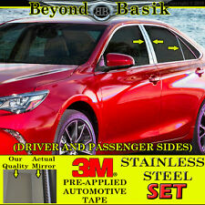 2012-2017 Toyota Camry STAINLESS STEEL 6pc Pillar Posts Covers Overlay trims set