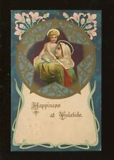 Greetings YULETIDE New Year Art Nouveau Style Mary Jesus Misch 1910 PPC