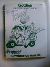 "Original Gottlieb ""Tee'd Off"" Pinball Machine Instruction Manual"