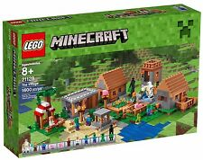 LEGO Minecraft The Village Set 21128 w Steve, Zombie, Enderman, Iron Golem NEW