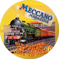MECANNO VINTAGE MAGAZINES - 519 ISSUES - PDF FILES - ON 2 DVDs - HOBBY MAGAZINE