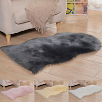 Natural Sheepskin Rug Fluffy Soft Shaggy Floor Carpet Area-Rugs Faux Fur Mat Pad