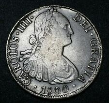1800 F.M.☆ Mexico ☆ 8 Reale ☆Spanish Milled Bust ☆U.S. First Silver Dollar Coin